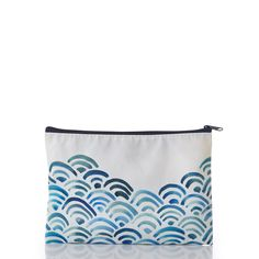 Watercolor Waves Pouch