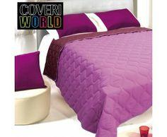 www.sconticasa.it  Trapuntino letto matrimoniale double face in microfibra  Marcato Coveri World  Colore Rosa/Fuxia