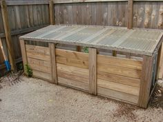 compost bin with slate front and lid more attractive than up cycling pallets