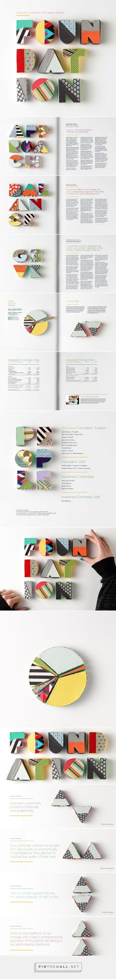 Annual Report on Behance - created via https://pinthemall.net