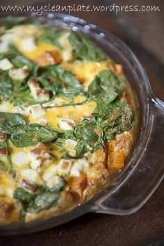 sweet potato feta spinach fritata