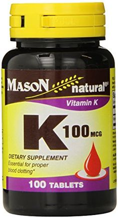 Find best price for Mason Vitamins Vitamin K 100 mcg Tablets, 100 Count Bottle (Pack of Cough Medicine, Natural Vitamins, E Bay, Healthy Choices, How To Stay Healthy, The 100, Health And Beauty, Bottle, Count