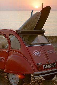 An amazing Vintage surf car.