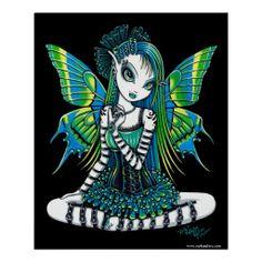 Katy Green Tattoo Fairy Poster