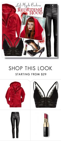 """""""Last Minute Costume: Red Riding Hood"""" by mandy-ruth ❤ liked on Polyvore featuring Old Navy, River Island, H&M and Bobbi Brown Cosmetics"""