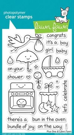Lawn Fawn Clear Stamps - Plus One (LF337) - matching dies