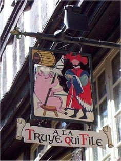Les enseignes de la rue médiévale. - Le Faiseur de Ripailles