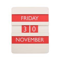 Perpetual Calendar Red
