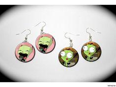 Invader Zim Gir Cupcake 2 Pairs Of Charm Earrings