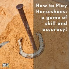 How to Play Horseshoes – a game of skill and accuracy! Outdoor Games To Play, Games To Play Outside, Cool Games To Play, Indoor Games, Horseshoe Game, May Birthday, Lawn Games, Horseshoes, Outdoor Parties