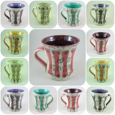 Saucy Mugs by Carole Henshall, The Poplar Studio Pottery for all the Uppity Strumpets, Artful Tarts, Frolicsome Trollops and Lascivious Minxes!