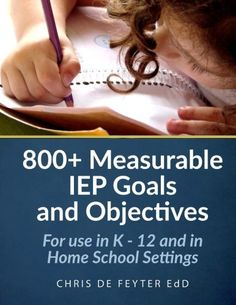 800+ measurable IEP goals and objectives special education teachers