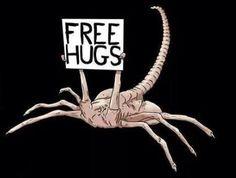 Alien face sucker free hugs