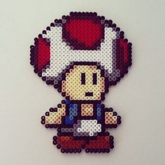 Toad Mario hama perler beads by color_shock