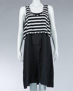 Animale casual dress striped sleeveless tops - Black #WomenDress #Dress #SummerDress #Animale #WomenWear #WomenFashion #MotifDress #LightDress