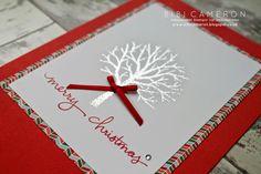 Wednesday, 22 April 2015 Independent UK Stampin' Up! Demonstrator Bibi Cameron: Stampin Up Sheltering Tree, Endless Wishes ♥ Christmas Card