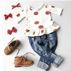Beautiful baby / toddler girl outfit! Girls' outfit inspiration. LOVE!