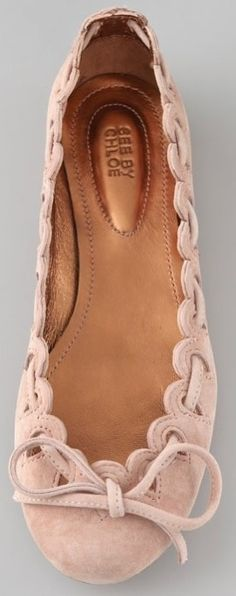 CHLOE.  I love this soft blush pink flat!