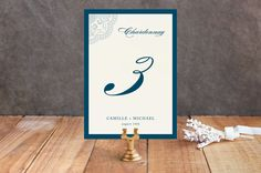 Ornamental Table Numbers by Paperview Designs at minted.com
