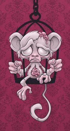 Poor Little Monkey  by ~aleksandracupcake on deviantart