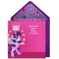 Twilight Sparkle Birthday Online Invitation from Punchbowl.com
