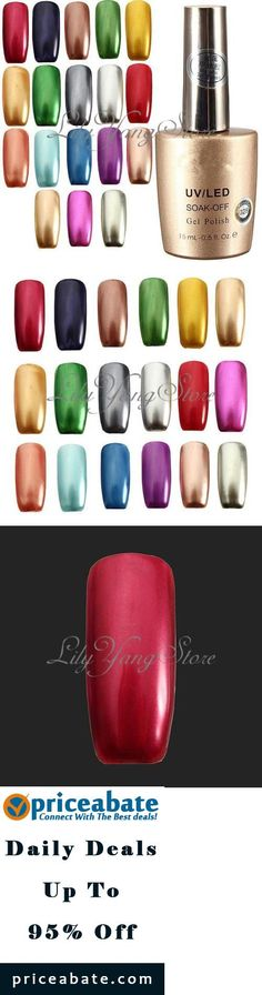 #Priceabate Bling Metallic Soak Off Long-lasting Nail Art Manicure Gel Polish Varnish 15ml - Buy This Item Now For Only: $4.65