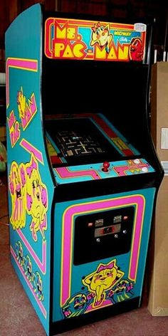 Ms. Pacman arcade game 80s