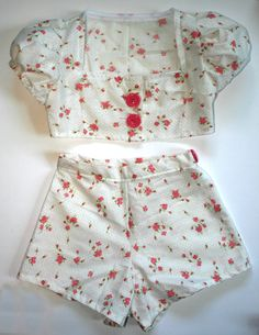 Girls Two Piece Play Suit 1950s Retro by JitterbugClothing on Etsy, $35.00