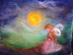 Pintura com lã...
