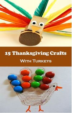 15 Thanksgiving Crafts that even young kids can make