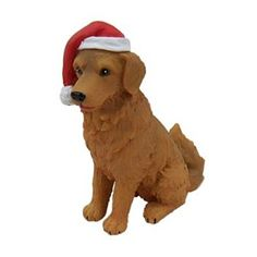 St. Nicholas Square Golden Retriever Christmas Ornament