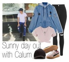 Sunny day out with Calum by acc70913 on Polyvore featuring polyvore, fashion, style, Asilio, Topshop, Puma and clothing
