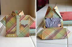 Folded Shirt card...and one more!  great tutorial for a folder shirt card for dad created by designer, Aly Dosdall.  Aly has completed a video tutorial as well.  Another perfect Father's Day idea.