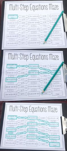 This was the perfect way for my 8th grade math and Algebra 1 students to practice multi step equations. My students loved practicing solving equation by working their way through this fun middle school math worksheet. After my high school math students completed this math worksheet they were so much better and solving multi-step equation and working with the distributive property.