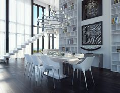 Modani Furniture 2016 Catalog: Blancarat Collection #modani #diningroom