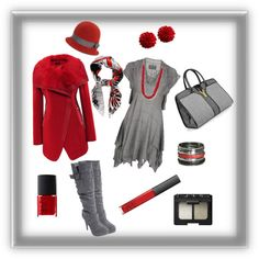 """""""Contest in red & grey! :-)"""" by lady-grimilde ❤ liked on Polyvore"""