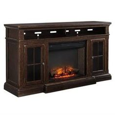 black tv stand with fireplace - Google Search