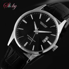shsby HOT Sell Quartz Business Men's Watches,Men's Military Watches,Men's Leather Strap Sports Watches
