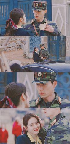 Crash Landing On You-K Drama-Subtitle Indonesia- Korean Drama Movies, Korean Actors, Korean Dramas, Corazones Gif, Jung Hyun, Drama Fever, Kdrama Actors, Hyun Bin, Strong Girls