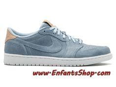 innovative design 07794 58daf Air Jordan 1 Low Tan 905136-402 Chaussures Jordan Officiel Pas Cher Pour  Homme Bleu