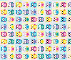 Girl Owls Cheaters Quilt fabric by littlebdesigns on Spoonflower - custom fabric