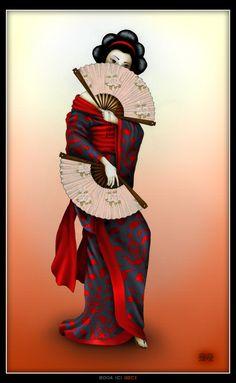Geisha - colored by geci on DeviantArt