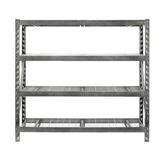 4-shelf 77 In. W X 73 In. H X 24 In. D Steel Shelving Unit