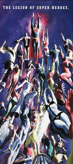 Superman Leading the Legion of Superheroes