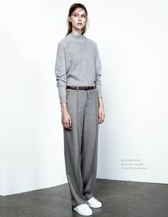 Knit Sweater (30$) T16S424 | Straight Trousers (40$) B16P424