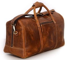 Leather Duffel Bag Travel Gym Sports Overnight Weekend cabin holdall by  KomalC 751f140fa7