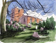 Halam Church Nottingham ; art ; drawing ; painting ; ian gordon craig ; landscape ; https://photos.google.com/share/AF1QipO7_ta7Lt0QLgI2XolMRkX7JkuKil3ClndM7_WFT1LqsFBhBGc6dy7be1GptQ4qug/photo/AF1QipO0aDXMUygmZpty4hdsZn9pLR7tSpki1t9F3zc3?key=Tmh0YU01N3BocUtiZU9wSVJ4cm9pY0dmMVFsUDB3