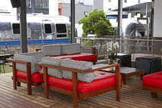 This rooftop Airstream trailer park in Cape Town, South Africa is one of the most unique and exotic places to stay in the world. Exotic Places, Outdoor Furniture Sets, Outdoor Decor, Airstream, Rooftop, The Originals, Luxury, South Africa, Daddy