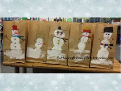Paint your own snowman gift bag