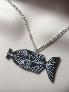 hitch hikers guide to the universe...BABEL FISH... necklace